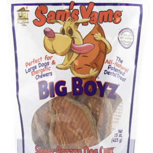 Sam's Yams Big Boyz Sweet Potato Dog Chews, 16 oz