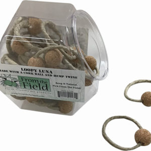 2 Piece Loopy Luna All-Natural Cork Ball on Hemp Twine-0
