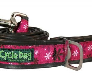 cycle-dog-leash-hot-pink-retro-flowers-6ft