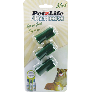 PetzLife 3 Pack Finger Brush-0