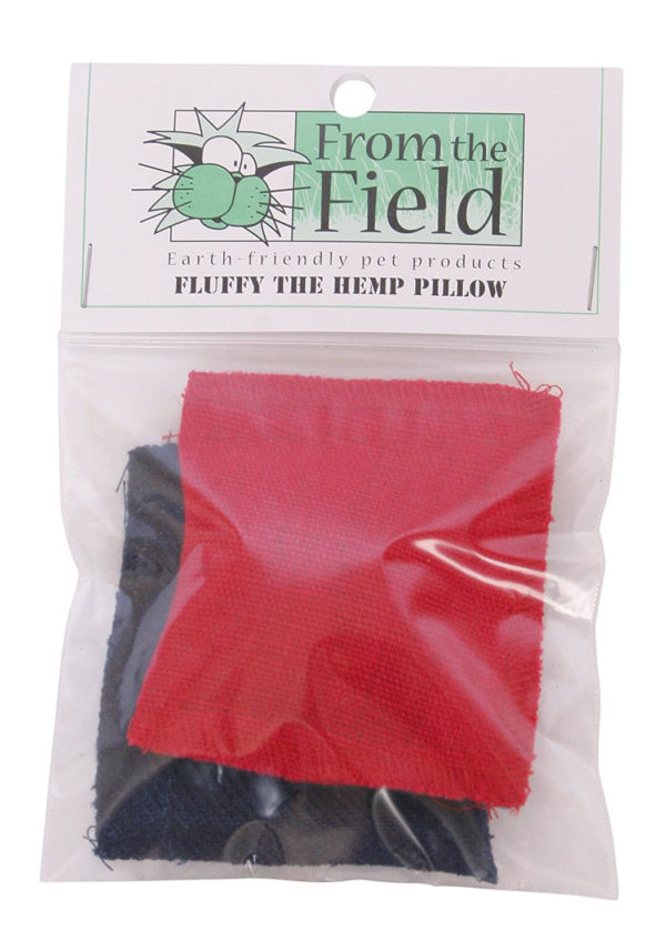 From The Field 2-Pack Fluffy The Hemp Pillow Catnip Toy FFT113