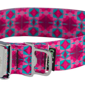 Cycle Dog Bottle Opener Eco Friendly Dog Collar, Ecoweave Fuchsia Tri-Style Collar
