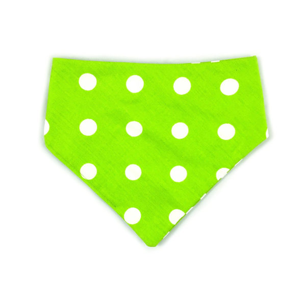 Uptown Pups Reversible Bandana Classic Lime Green