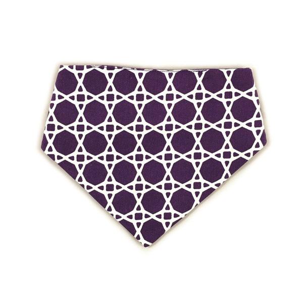 Uptown Pups Reversible Bandana, Purple