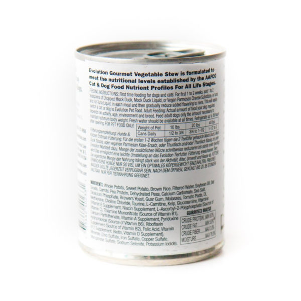 Evolution Diet Vegan Canned Food For Cats and Dogs Vegetable Stew