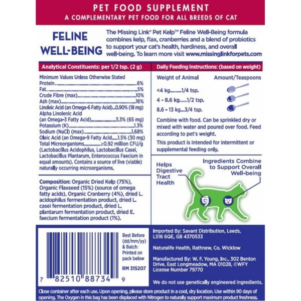 The Missing Link Pet Kelp Feline Well Being -2127