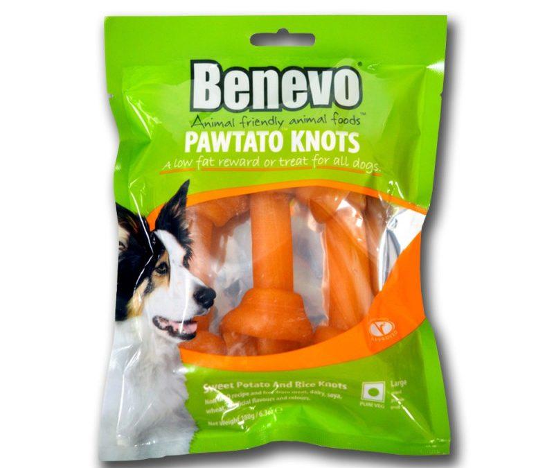 Benevo Pawtato Knots treats now in 2 sizes!